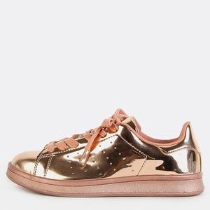 *CLEARANCE* Rose Gold Metallic Sneakers